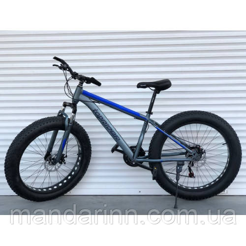 """Велосипед TopRider 630 26"""" Синій, колеса 4.0. Фэтбайк Fatbike."""