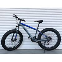 """Велосипед TopRider 630 26"""" Синій, колеса 4.0. Фэтбайк Fatbike., фото 1"""