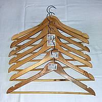 """Деревянные плечики """"Неделька"""", 7 вешалок, тремпель для одежды с нарезами, ширина 44 см, толщина 12 мм"""