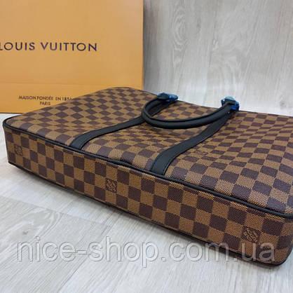 Сумка для документов и ноутбука Louis Vuitton, кожа+ канва, фото 2