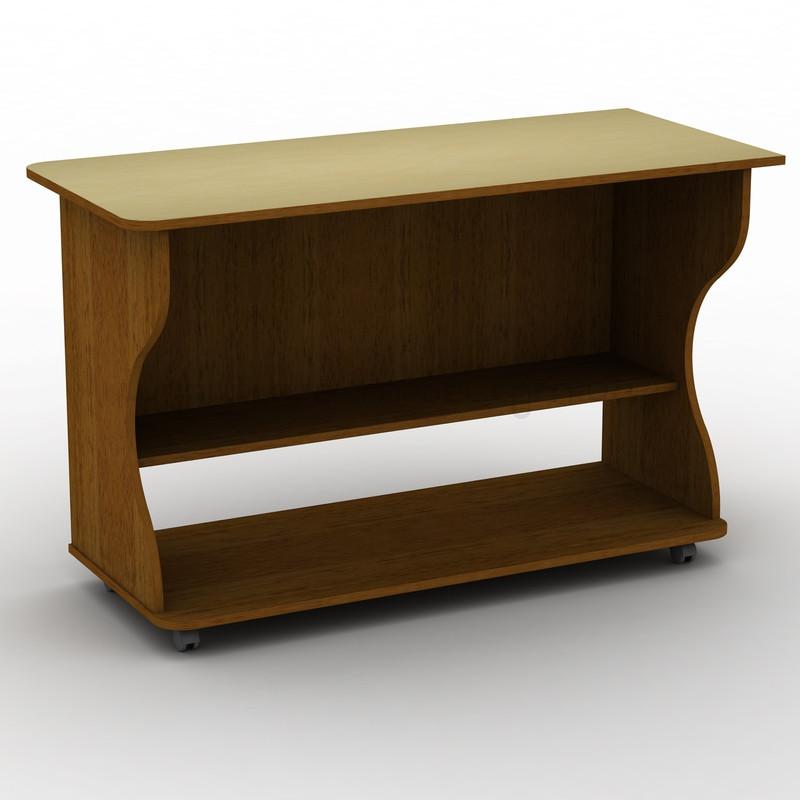 Письменный прямой офисный стол на колёсиках Тиса СП-6к 1200х520