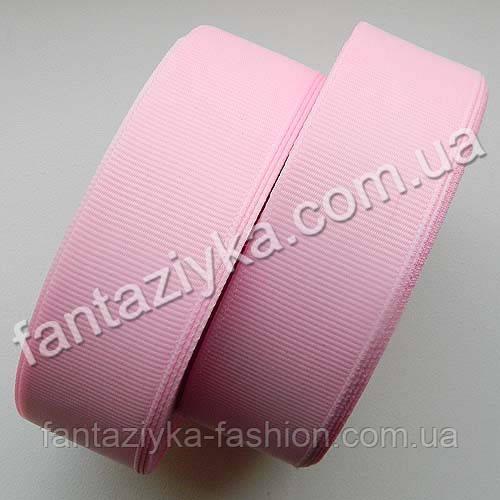 Лента репсовая 2,5 см, светло-розовая