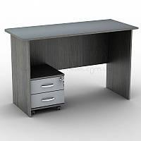 Письменный прямой офисный стол с мобильной тумбой на колёсиках на 2 ящика Тиса СП-9+ТК-2 1200х520