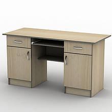 Письмовий прямий офісний стіл Тиса / Tisa СП-22 1600х700 (Бюджет) з ДСП