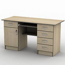 Письмовий прямий офісний стіл Тиса / Tisa СП-24 1400х700 (Бюджет) з ДСП