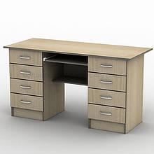 Письмовий прямий офісний стіл Тиса / Tisa СП-28 1600х700 (Бюджет) з ДСП