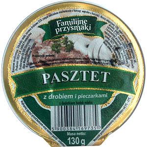 Паштет грибной 130 грамм ТМ Familiine Польша