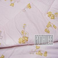 Одеяло детское 140х100 новорожденному малышу гипоаллергенное в кроватку для кроватки демисезонное 3019 Розовый, фото 1