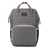 Рюкзак-сумка для мам Mother-bag Серая (CANa36872)