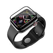 Защитное стекло HOCO для Apple Watch 4 40мм Curved High-defenition Черные рамки (123082)