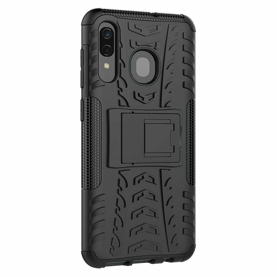 Чехол накладка Shield для Samsung Galaxy A20 / A30 / A50 Черный (968945)