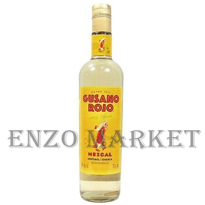 Текила Mezcal Gusano Rojo (Мескаль Гусано Роджо) 38%, 1 литра