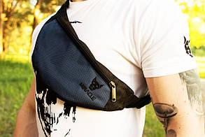 Мужская Бананка Miracle light blue/black (сумка через плече,поясная сумка)