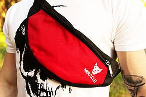 Мужская Бананка Miracle light red/white (поясная сумка,сумка через плече)