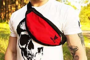 Мужская Бананка Miracle light red/black (поясная сумка,сумка через плече)