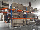 Фронтальный паллетный стеллаж Н4500хL2700х1100 мм(пол.+3 уровня по 3000 кг на уровень), складской стеллаж, фото 5