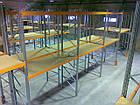 Фронтальный паллетный стеллаж Н4500хL2700х1100 мм(пол.+3 уровня по 3000 кг на уровень), складской стеллаж, фото 9