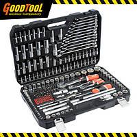 """Набір професійних інструментів 1/2"""", 3/8"""", 1/4"""" 216 предметів YATO YT-38841"""