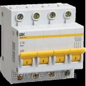 Автоматический выключатель ВА47-29 4Р 63А 4,5кА х-ка C IEK, фото 2