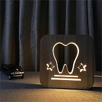 Сувенирная лампа с символикой зуба