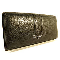 Кошелек кожаный классический  Salvatore Ferragamo 4381 черный в наличии