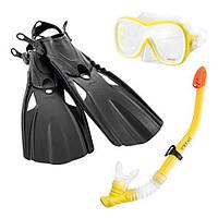 Набор для плавания 3-в-1 Intex: ласты, маска, трубка M