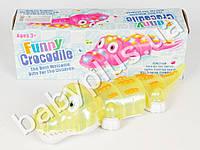 Развивающая игрушка Крокодил (розовый)