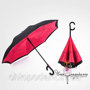 Зонт обратного сложения Umbrellas - феррари Код 10-1744