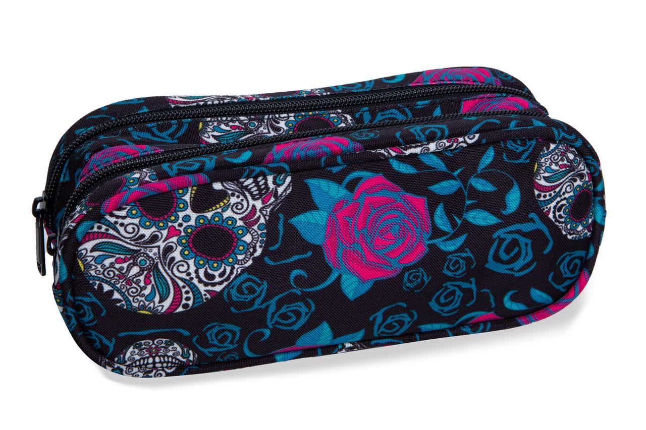 Пенал CoolPack Clever Skulls  Roses