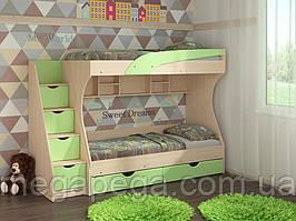 Двухъярусная кровать Кадет МДФ