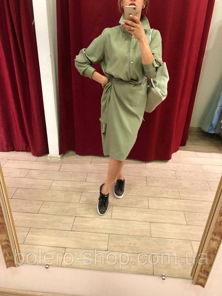 Женское платье Extyn  Италия оливковый