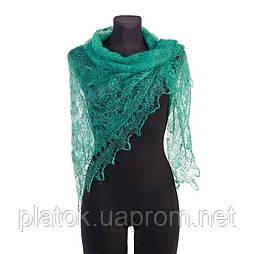 Паутинка Пастели Оренбурга, Ш-00417, цвет зеленый, оренбургский платок (паутинка)