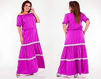 Платье - сарафан в пол с открытыми плечами в расцветках 50672, фото 1