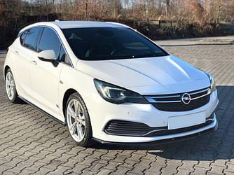 Спліттер Opel Astra K OPC-Line тюнінг елерон переднього бампера