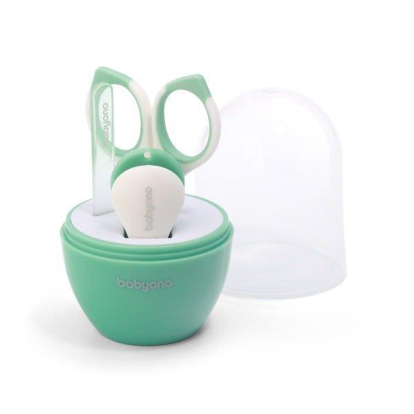 Набор для ухода за детскими  ногтями BabyOno 398 (мятный)