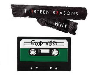 Металлический значок аудиокассета 13 причин почему 13 reasons why