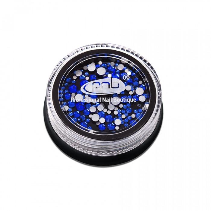 Стразы PNB синие, микс размеров, стекло, 200шт