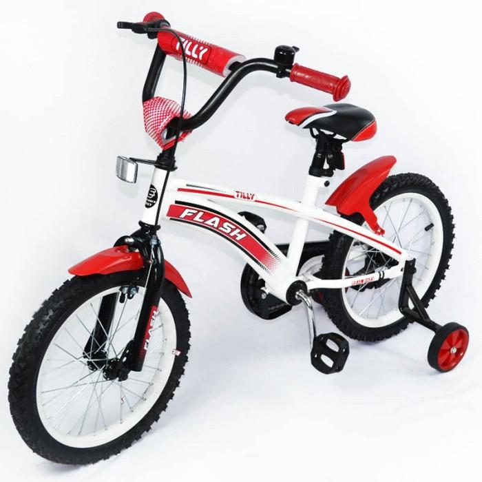 Велосипед двухколёсный детский 16 дюймов TILLY FLASH  T-21644 Red