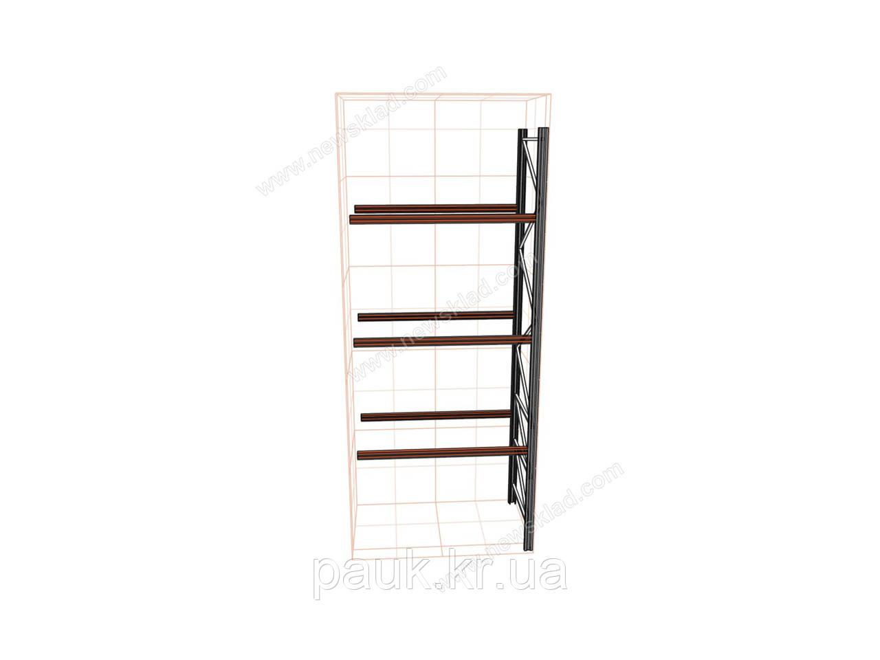 Стелаж для палет приставний Н5000хL1800х1100 мм(пол.+3 рівня по 2400 кг на рівень)