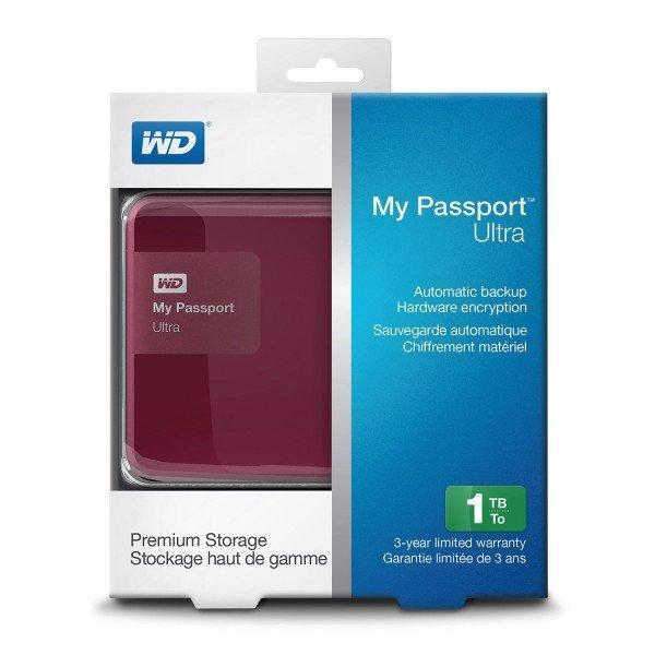 "Жесткий диск WD 2.5"" USB3.0 1TB Berry (WDBGPU0010BBY-EESN) ""OVER-STOCK"" Б/У"