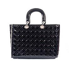 Женская сумка Dior стеганый черная