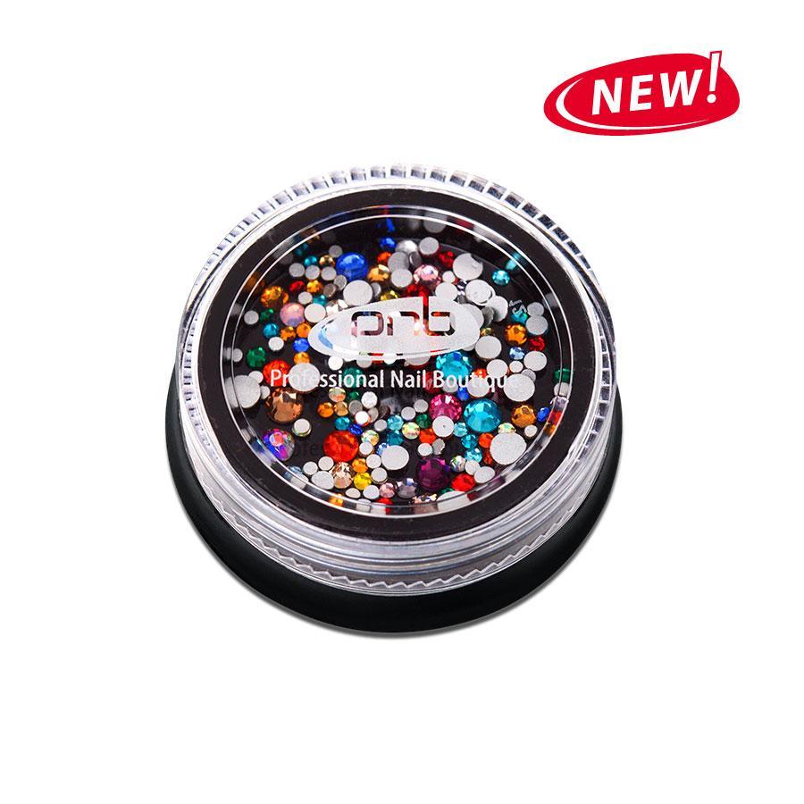 Стразы PNB разноцветные, микс размеров, стекло, 200шт