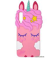 Чехол-накладка TPU 3D Little Unicorn для Samsung Galaxy A7 (2018) SM-A750F Pink