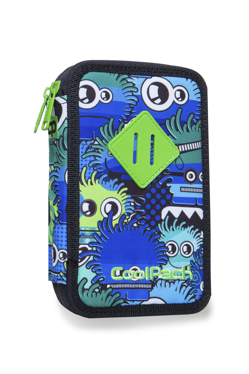 Пенал JUMPER 2 CoolPack,  Wiggly eyse blue