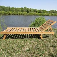 Шезлонг пляжный дубовый, шезлонг деревянный для бассейна, террасы, лежак пляжный, купить