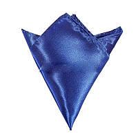 Платок мужской атлас синий (разные цвета)