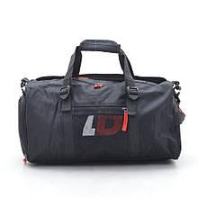 Дорожная сумка LD 1827 черная красные буквы