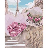 """Картина по номерам """"Влюбленная в Париж"""""""