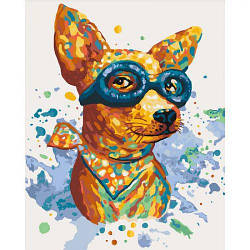 "Картина по номерам ""Авиатор"" 4122 (собака, щенок)"