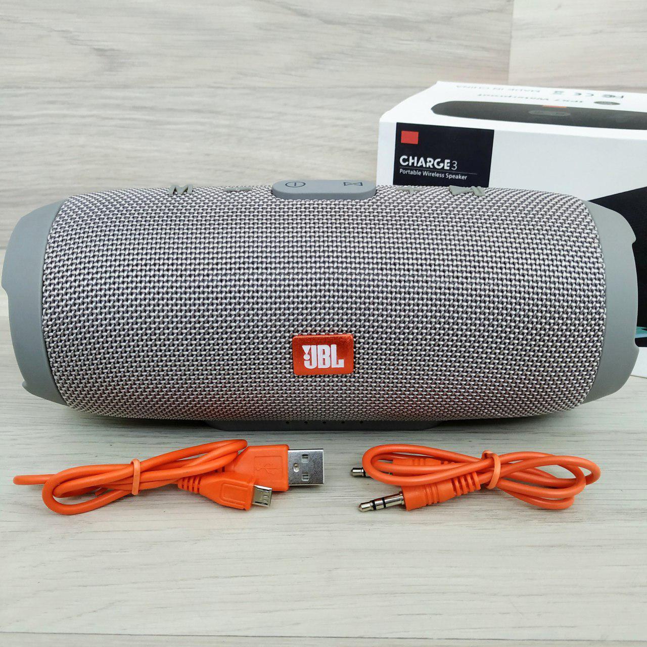 Портативная Bluetooth-колонка JBL Charge 3 Серая